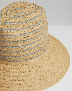 Kate and Confusion ladies straw summer fedora hat