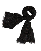 Load image into Gallery viewer, Kate and Confusion black wool ladies knit scarf shawl