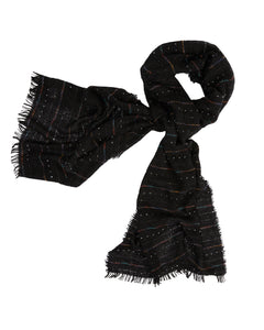 Kate and Confusion black wool ladies knit scarf shawl