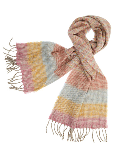 kate and confusion pink wool knit scarf shawl