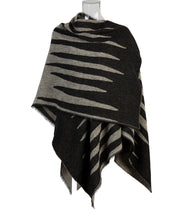 Load image into Gallery viewer, Kate and Confusion Animal Stripe wool shawl wrap