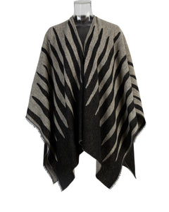 Kate and Confusion Animal Stripe wool shawl wrap