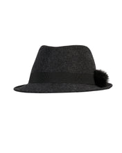 Load image into Gallery viewer, kate and confusion grey wool felt ladies trilby hat