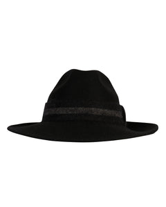 Kate and Confusion black wool felt ladies fedora hat