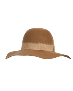Kate and Confusion brown wool felt ladies hat