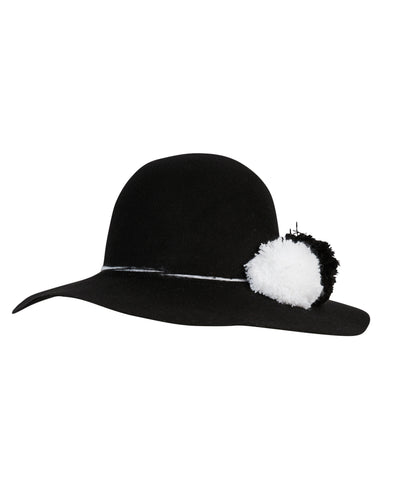 Kate and Confusion black wool felt ladies hat