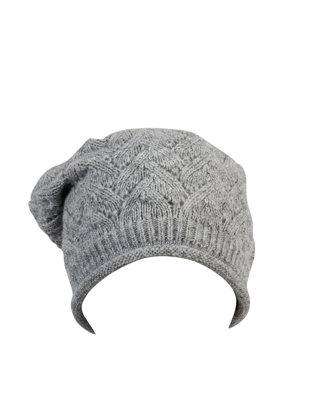 kate and confusion grey chevron wool knit ladies beanie