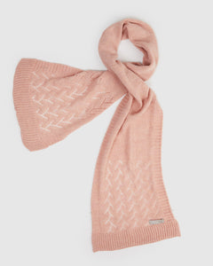 Kate and Confusion pink wool alpaca ladies scarf