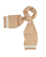 Load image into Gallery viewer, Kate and Confusion beige wool knit ladies scarf