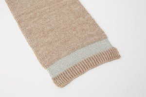 Kate and Confusion beige wool knit ladies scarf