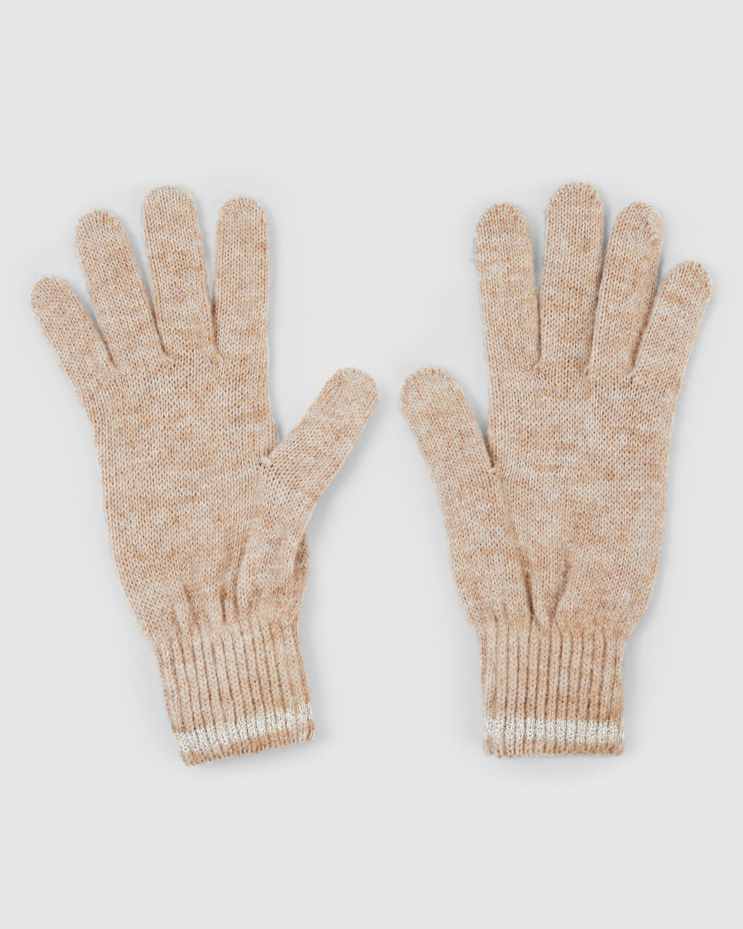 Kate and Confusion camell knit wool and alpaca ladies gloves