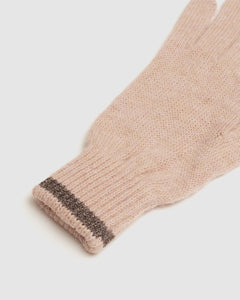 Kate and Confusion ladies wool knit gloves in pink and brown