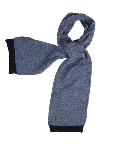 kate and confusion blue wool knitted ladies scarf