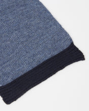 Load image into Gallery viewer, kate and confusion blue wool knitted ladies scarf