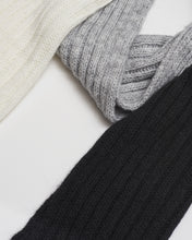 Charger l'image dans la galerie, Kate and Confusion ladies wool knit scarf in ivory and black and grey