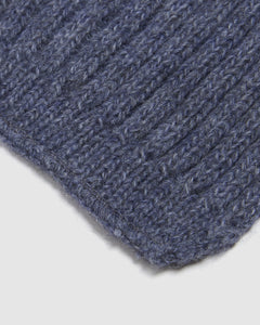 Kate and Confusion wool and alpaca knit ladies scarf in blue and navy