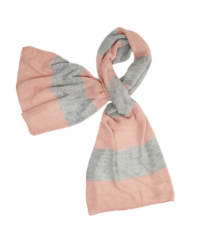 kate and confusion pink and grey wool knit ladies scarf