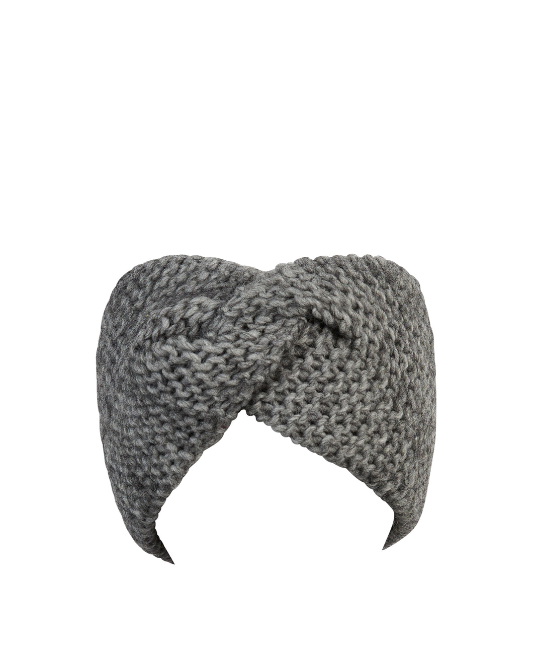 kate and confusion grey wool knitted headband