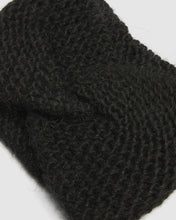 Load image into Gallery viewer, Kate and Confusion Ladies Black wool knit headband