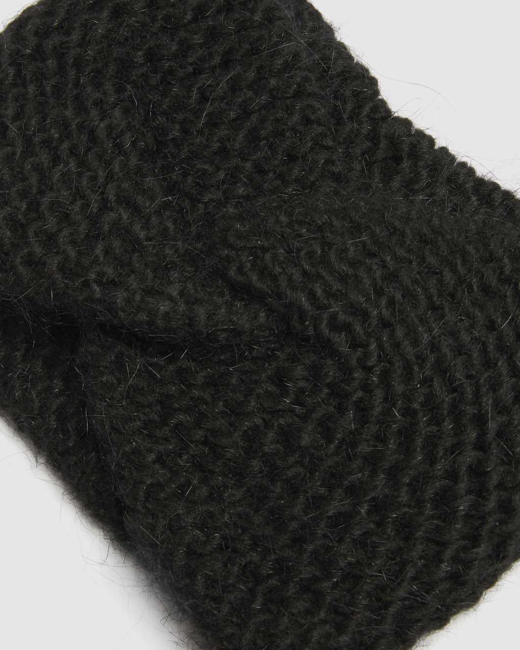 Kate and Confusion Ladies Black wool knit headband