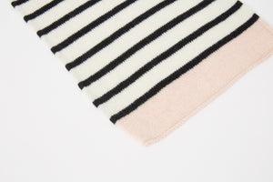 Kate and Confusion stripe knitted scarf