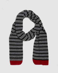 Kate and Confusion wool knit ladies stripe scarf
