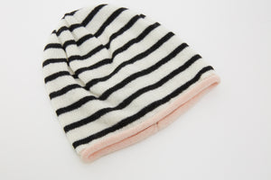 Kate and Confusion stripe wool knit womens beanie