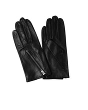 Load image into Gallery viewer, Kate and Confusion black leather ladies gloves with zip detail