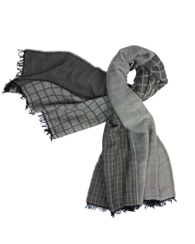 Kate and Confusion brown check wrap scarf