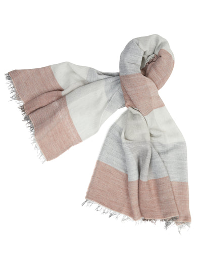 kate and confusion wool knit womens scarf in pink and grey