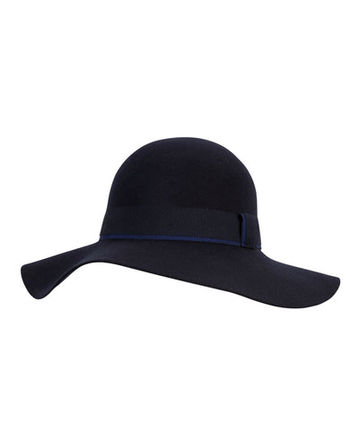 kate and confusion navy wool felt floppy womens hat