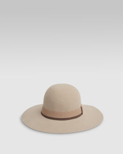 Kate and Confusion beige wool ladies felt floppy hat