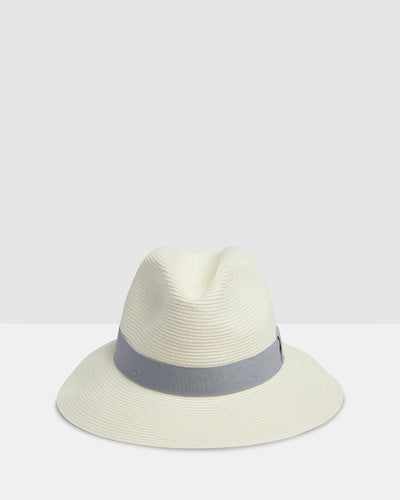 Kate and Confusion white summer ladies straw trilby fedora hat