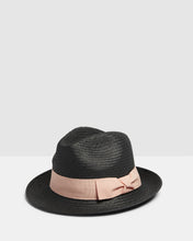 Load image into Gallery viewer, Kate and Confusion black summer ladies trilby fedora hat