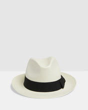 Load image into Gallery viewer, Kate and Confusion Summer Straw Ladies Trilby Fedora Hat