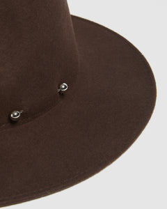 Kate and Confusion Chocolate wool felt womens fedora hat