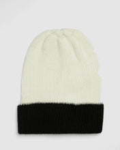 Load image into Gallery viewer, Kate and Confusion ladies wool knit beanie in Ivory and Black