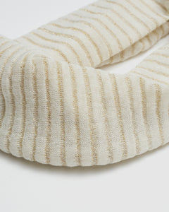 Kate and Confusion wool ladies scarf in ivory and gold
