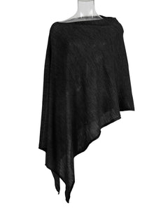 Kate and confusion black fine knit wool poncho