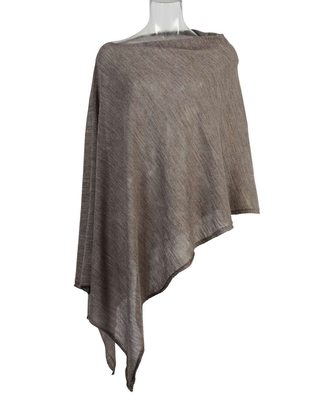 Kate and Confusion brown knit women's poncho