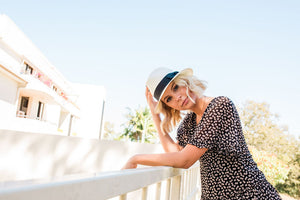 Kate and Confusion Ivory Summer Straw Ladies Trilby Fedora Hat