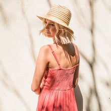 Charger l'image dans la galerie, Kate and Confusion straw raffia ladies fedora hat