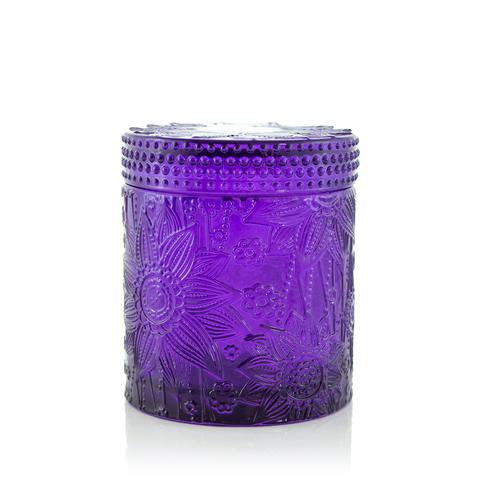 FREE shipping Valentine Teal Luxe Candle, Lotus candle jar, purple candle, hand poured luxury candle vessels, valentine gift, lotus flower - Bath -ology