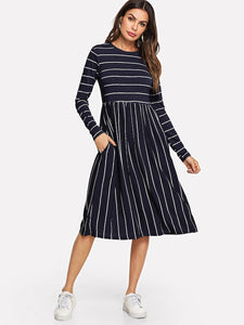 Mixed Striped Dress