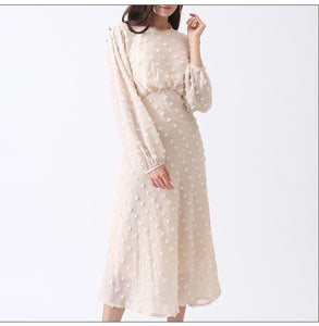 Chiffon Dotted Dress