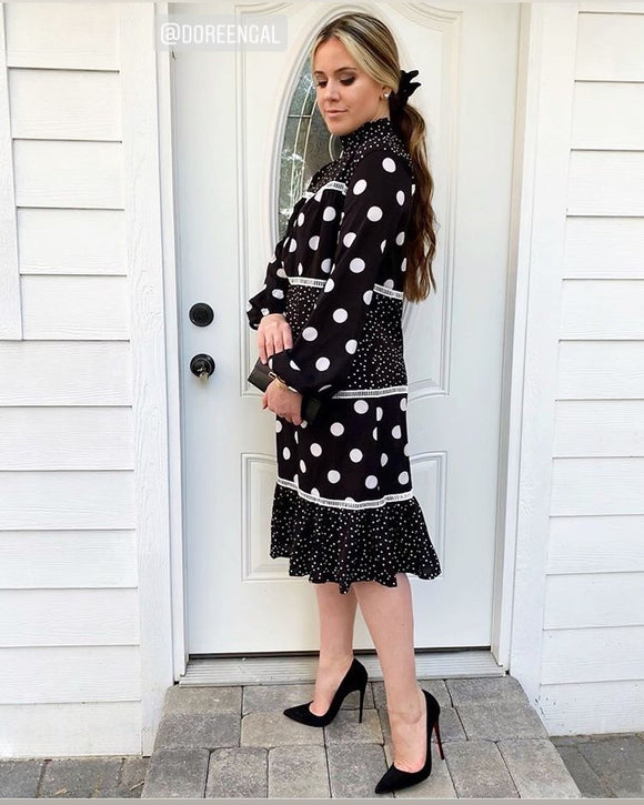Mixed Dot Dress