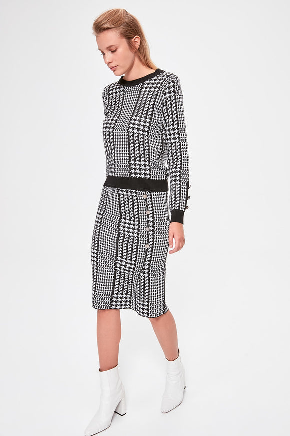 Houndstooth Sweater Set