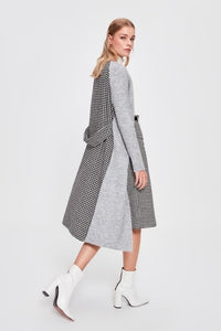 Houndstooth Long Cardigan