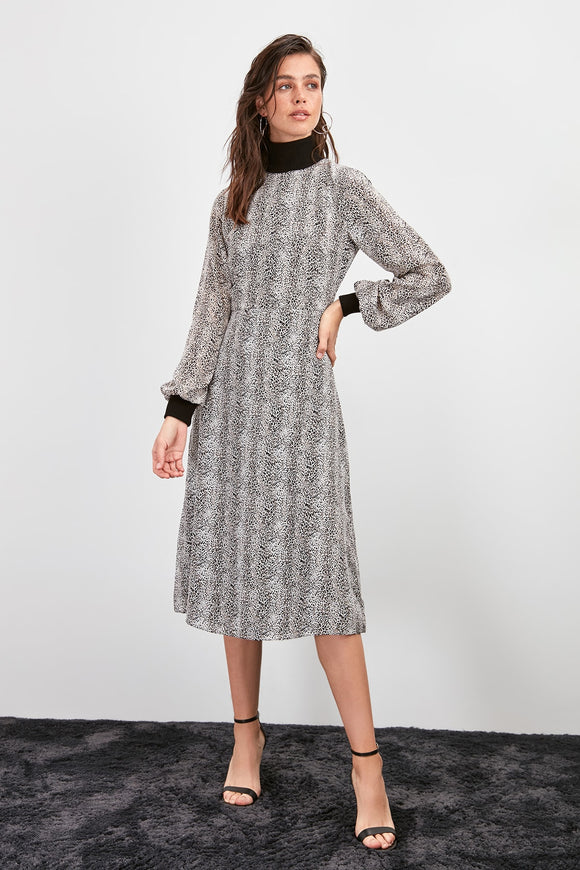 Patterned Sweater Dress