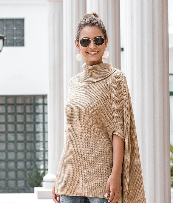 Cape Sleeve Knitted Top
